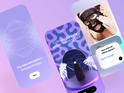 Beauty App Design medical app medicine medical femine perfume cosmetics mobile app concept 3d skin skin care fashion beauty shopping cart shopping app e-comerce cards uiux ux ui