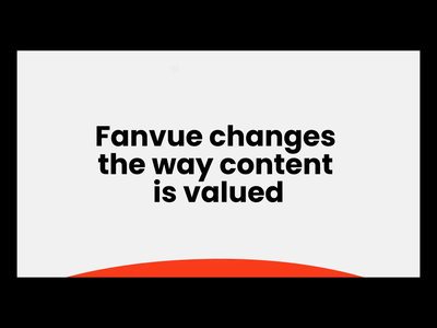 Fanvue - Landing Page Animation motion influencers product design landing page app influencer marketing creator content blogging blogger influencer influence brand identity branding animation ux ui etheric