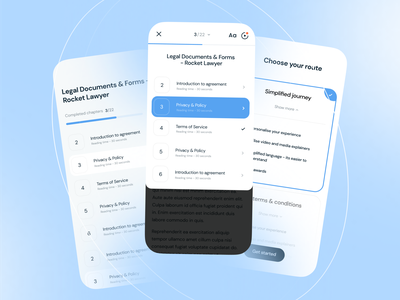 Amplifi - Responsive App form legal chapter onboarding artificial intelligence ai agency app application web mobile ios simplicity simplify document fintech branding ux ui etheric