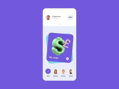 Finny - Gen Z Mobile bank Interaction goals payment transfer cards 3d animation neobank bank savings vault banking fin-tech finance fintech brand identity ux ui etheric