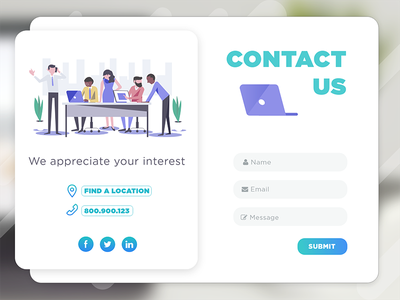 #DailyUI #028 | Contact Us design ui form us contact 028 dailyui