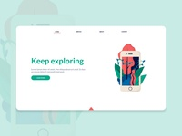 Landing page - illustration