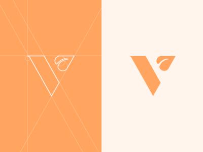 Vegan logo design.