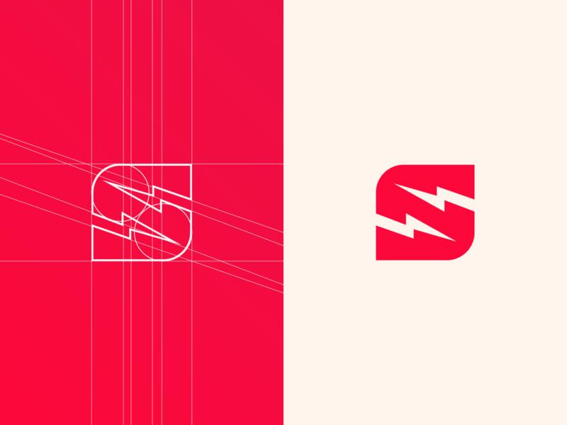 Sports logo. guidelines minimalist logo logo sports logo gym logo negative space colors s logo s lighting bolt lighting