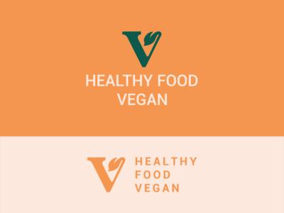 V leaf logo design.