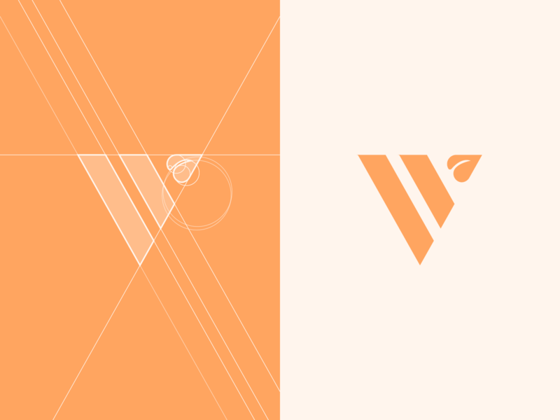 V + leaf logo grids.