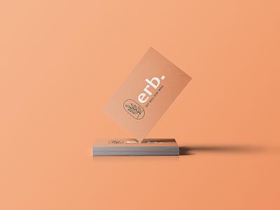 Brand & Identity for Erb. logodesigner smart logo leaves logo leaf illustration design logomark stationery design stationery tea herb branding color