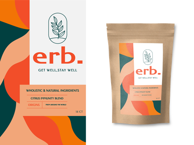 Packaging design for tea brand - Erb. colour packagingdesign packaging package logomark logo identity tea branding brand identity brand