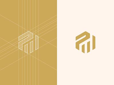 Physicum - logo design logodesigner logogrid grid design guidelines colors logo hexagon p p logo sports logo fitness logo