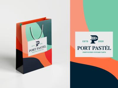 Packaging bag design for Port Pastél wheat p logo packagingdesign packaging package logomark colours branding brand identity brand
