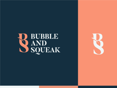 Bubble and Squeak Logo design identity branding logomark logodesigner color chef negative space logo negative space leaf logo leaf