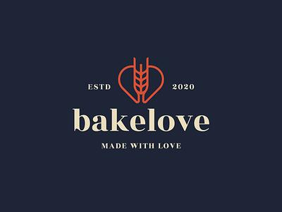 Bakery logo design pattern smart logo color logodesigner logo idendity branding wheat heart bakery logo bakery