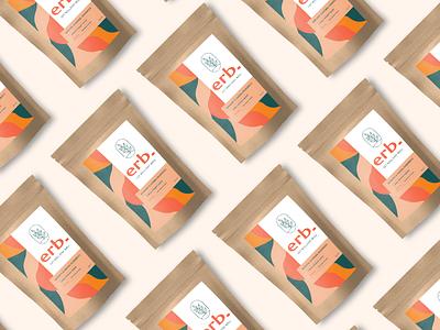 Branding for Erb Tea. tea packaging tea branding color illustration identity brand design branding packaging design packaging drink tea