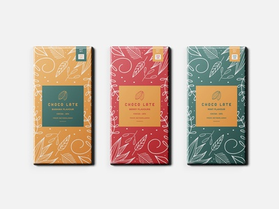 Chocolate packaging design. branding logodesign color leaves illustration cocoa food food packaging packaging chocolate packaging chocolate