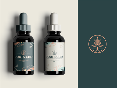 Roots CBD oil packaging dropper packaging logotype organic logo label herboil hemp cbdoil cbd cannabis branding