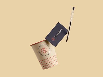 Branding for Bakelove logo wheat packaging love logodesigner identity heart food color branding bakery