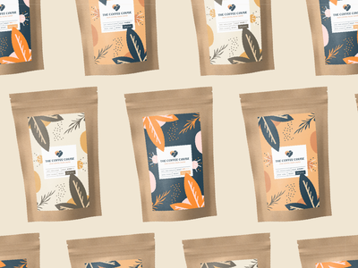 Coffee Bag design natural coffee beans bag illustration logo packaging coffee packing coffee label