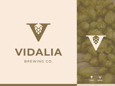 Vidalia Brewing co. - Logo design craft beer logo brewing brewery beverage branding identity beer logo v v logo beer hops