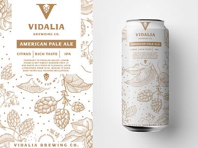 Vidalia - Beer can design craft beer packaging packaging design logo beverage can label illustration hops branding beer