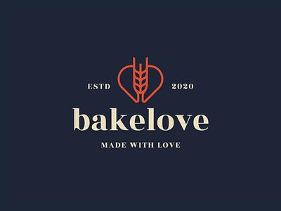 Bakery branding. food logodesigner logomark colour logo brand identity branding packaging bakery heart wheat