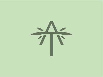 AT CBD logo design logo wellness cbd branding plant cannabis branding thc natural leaf hemp cbd cannabis