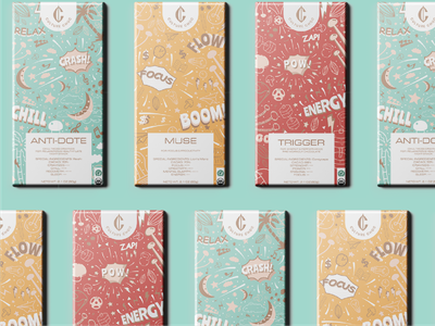 Culture Choc - Packaging Design logodesigner pattern chocolate packaging colour labeldesign identity packaging design packaging food chocolate