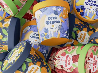 Zero Degree Gelato - Branding Design colour logo packaging designer food packaging packaging branding food branding food dessert ice ice cream