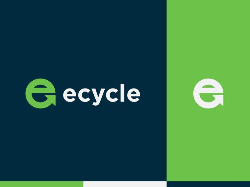Ecycle - Logo design colors logotype designer identity arrow logo arrow minimalist logo monogram design smartlogo brand identity branding colors mark symbol icon logo e logo recycling recycle