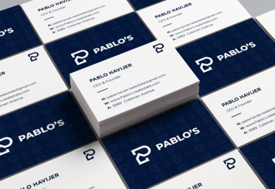 Business card for a real estate agency.