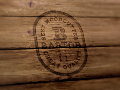 Wood logo design.