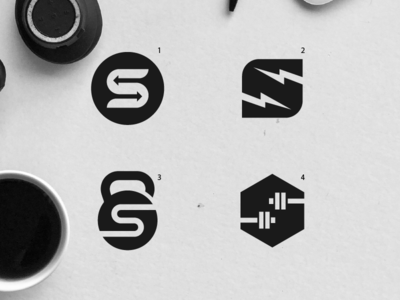 Gym logo design options