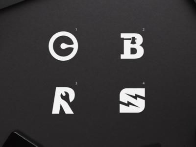 Negative space logos.