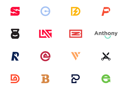 Logo design collection leaf scissors lighting negativespace smile kettlebell mechanic realestate recycle logofolio logotype logos identity color collection branding