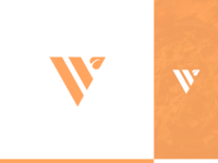V leaf logo design