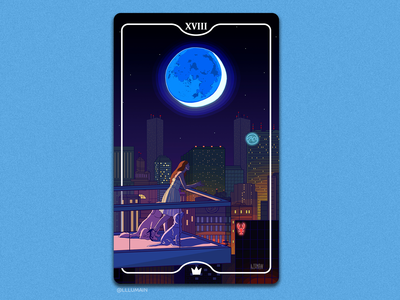 The Moon - Tarot Card