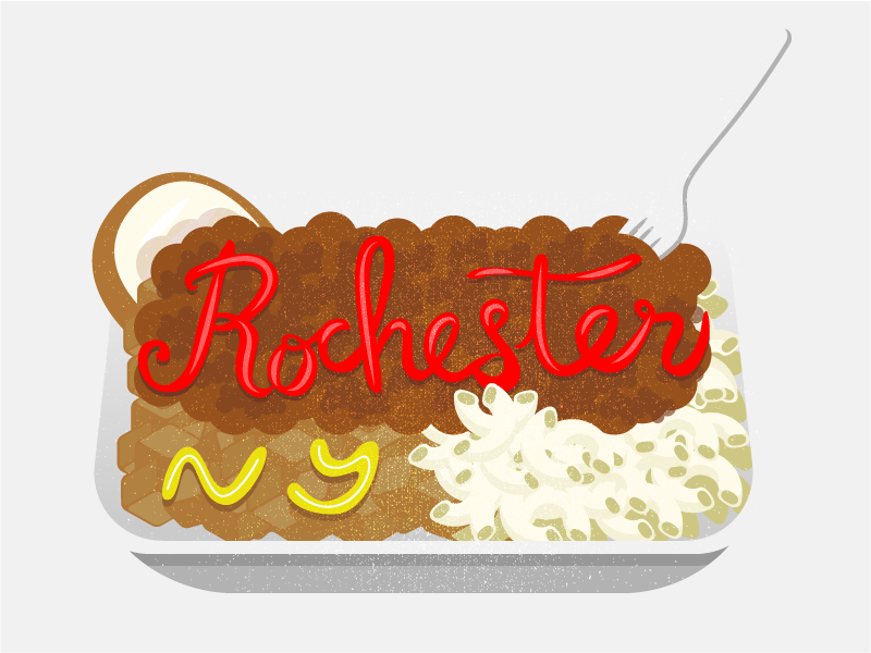 The Garbage Plate rochester snapchat filter garbage plate typography illustration graphic