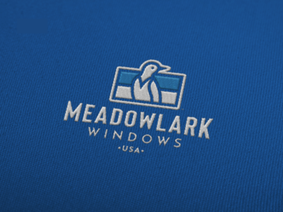 Meadowlark Windows Logo identity design brian white vector bird logo design brand identity branding logo designs logodesign logotype logo