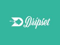 Dripset Cut logos logo design icon typography design logotype brian white branding vector logo