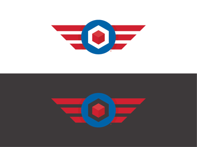 Captain Cube 3d cube wings design logomark logotype brand design identity logodesigns logo design logodesign branding logos logo