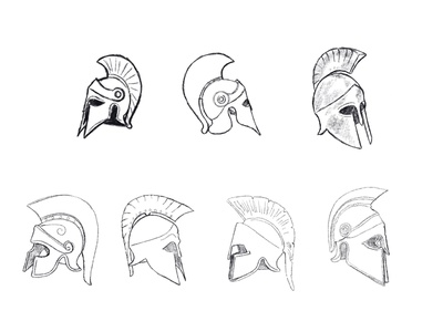 Adelphi Helmets brian white logodesign logos helmets greek drawing branding brand logo sketch helmet