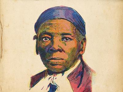 Harriet Tubman illustration art drawing procreate editorial illustration illustrator illustrations illustration