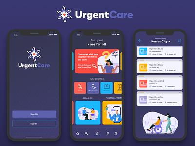 UrgentCare UI Design userinterface user experience ui design app design user interface ios app uiux uidesign ui