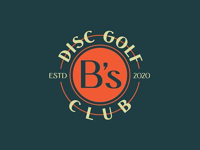 B's Disc Golf Club logo design vector branding brand logotype logos badge design badge logo badge logo