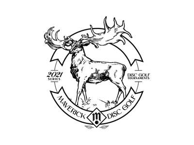 2021 Maverick Series stamp badge badgedesign nature logo design logotype stamp sport deer typedesign logodesign logo brand branding disc golf