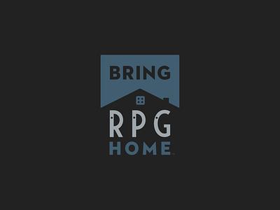 Bring RPG Home brand design logo designs logotype identity design branding and identity logodesign logo branding