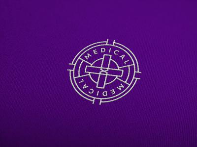 Medical logomark design typography crest badge design logo design brand branding vector logo badge