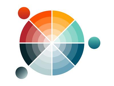 Simple color wheel color wheel brian white freebie free source source file illustrator palette