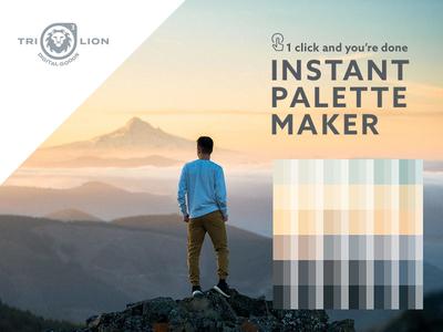 Instant Palette Maker action creative market goods for sale instant palet palette creator trilion studios photoshop actions color palette palette