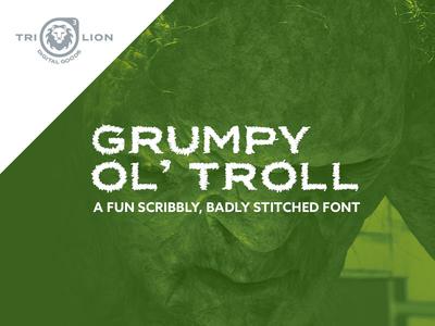 Grumpy Ol' Troll typography type display sans serif digital goods font for sale font