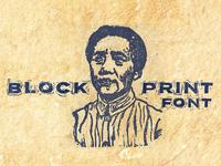 Blockprint Font